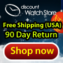 Shop DiscountWatchStore.com this holiday season for name brand watches at discount prices!