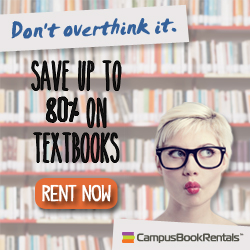 Save on textbooks with CampusBookRentals!