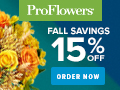 15% off Fall Flowers & Gifts at ProFlowers 120 x 90