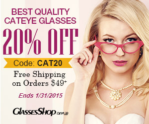 Enjoy 20% off on all cateye glasses! Use code CAT20 for your entire order