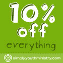 Click here for 10% off Your Order from Simply Youth Ministry (Square Banner)