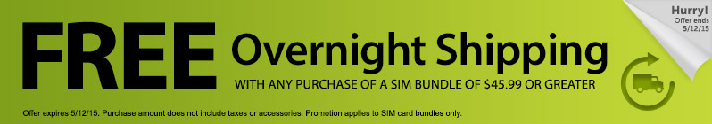 Straight Talk Promo Code for Free Overnight Shipping when you buy a SIM bundle (SIM + airtime card)