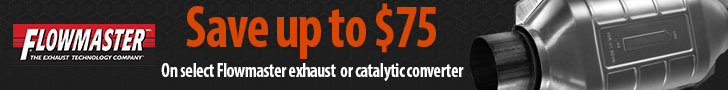 Purchase a qualifying Flowmaster exhaust or catalytic converter system and get a mail in rebate wort