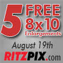 5 Free 8x10 Prints, August 19th Only!