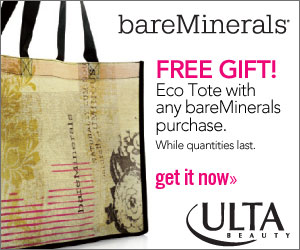 FREE Tote with bareMinerals purchase 300 x 250