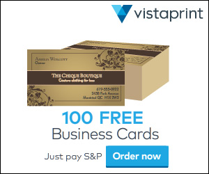 100 FREE Business Cards! ($4.99 Shipping)