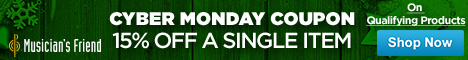 Cyber Monday Coupon: 15% off a single item on qualifying products with code: CYBERMONDAY. No minimum
