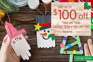 HOLIDAY CRAFTING & SCHOOL SUPPLY SALE! Save Up To $100 OFF Plus Free Shipping On Orders Over $99!