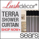 Lush Decor Terra Shower Curtain in Black/Silver or Blue/Chocolate – Shop Now >