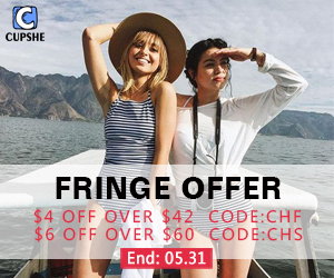 CUPSHE Fringe Offer!$4 Off Over $42 Code:CHF!$6 Off Over $60 Code:CHS!Free Shipping Worldwide!