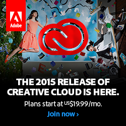2015 Creative Cloud Release. Plans start at $19.99/ month
