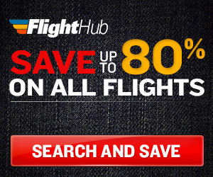 Up to 80% off of flights on FlightHub!