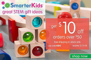 HOLIDAY STEM GIFT SALE! Save $10 Off Orders Over $50 + Free Shipping On In-Stock Only! Use Code KIDS