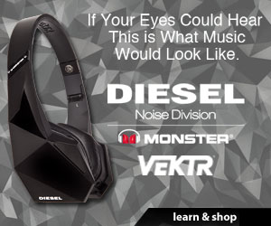 Diesel Vektr Headphones - If Your Eyes Could Hear, This is What Music Would Look Like - Shop Now!