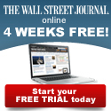 Click Here For The Wall Street Journal Online instead of a newspaper