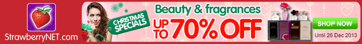 StrawberryNet Daily Christmas Specials!  Up to 70% Off!  Valid 11/7 - 12/26 only at strawberryNET.co