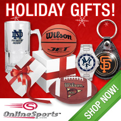 Christmas gifts from OnlineSports.com