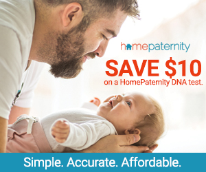 Save $10 on paternity tests