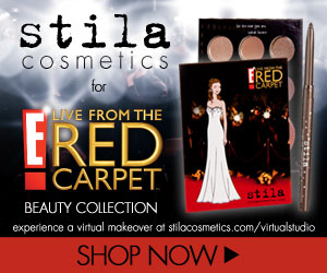 stila for E! live from the red carpet