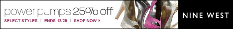 thru 10/30 - Nine West 30% Off Select Fall Styles!