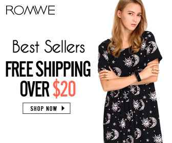 Romwe $9.99 Letters Print Black T-shirt on 13th March only, Free Shipping!