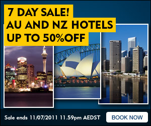 7 Day Sydney Sale! Save up to 50% on select hotel bookings! - Starts 05/07/11 - Ends 11/07/11 (11:59PM AEST)