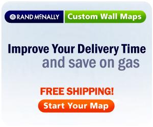Free Shipping on Rand McNally Custom Wall Maps