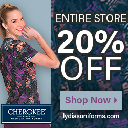 Cherokee Scrubs on sale @Lydia's
