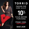 Get 10% off at Torrid.com!