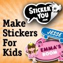 Custom Kids Stickers 125x125px