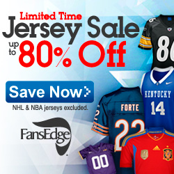 Limited Time Jersey Sale at FansEdge.com This Week
