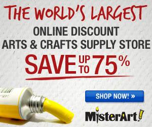 Up to 75% off Art Supplies at MisterArt.com!