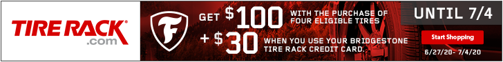 Get a $75 Tire Rack Prepaid MasterCard with Toyo Proxes R888