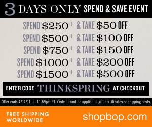 Think Spring Spend N Save 300 x 250
