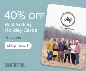 40% off Best Selling New Years & Holiday Cards 48 qty min valid 12/16-1/1 code: BESTNY40