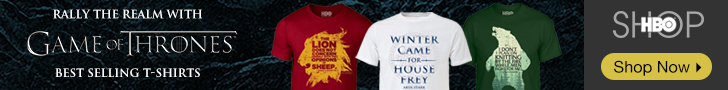 Game of Thrones bestselling t-shirts