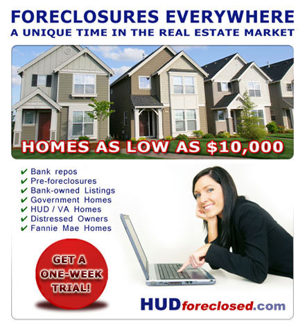 Cheap Foreclosure Homes Everywhere!
