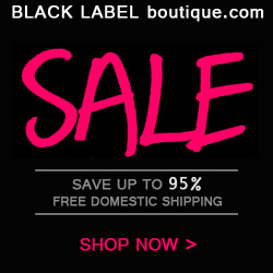 Save up to 95% on Designer Fashion at Black Label Boutique