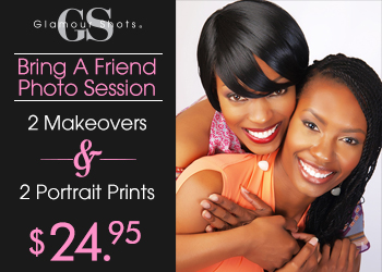Glamour Shots $24.95 Bring a Friend Photo Shoot Session