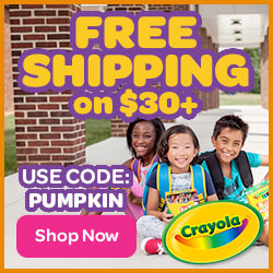 Free Shipping on $30+ Order With PUMPKIN