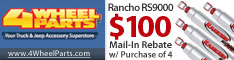 $100 Promo Card W/ Purchase of 4 Rancho Shocks