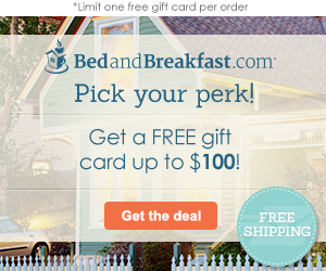 Give the gift of a B&B getaway!
