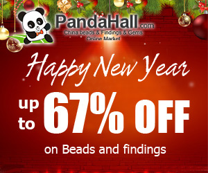 Up to 67% off on beads and findings. Ends on Jan 20, 2015.