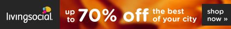 Save up to 70% on LivingSocial.com!