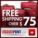 Free Shipping on orders over $99 at LuggagePoint.c