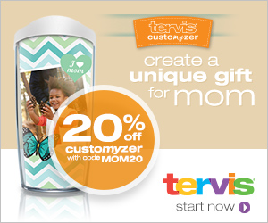 20% off at Tervis.com With Code 1DAY25 on Wednesday only October 16