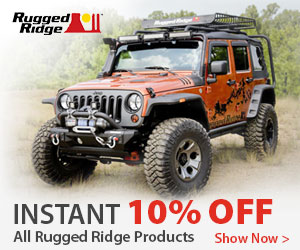Buy select Rugged Ridge Jeep products and save 10% INSTANTLY