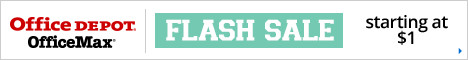 FLASH SALE - Wednesday 8/5/15 Only! Prices as low as $1 at Office Depot and OfficeMax