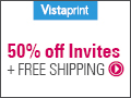 50% OFF Invitations and Announcements!