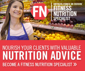 ACE Fitness Nutrition Specialist